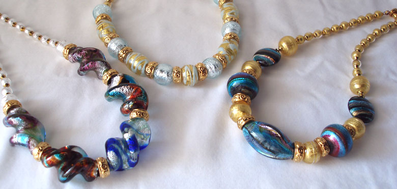Murano Glass Necklaces - Murano Glass