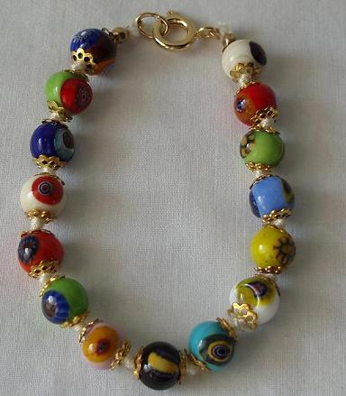 Hand Blown Venetian Necklace, Murano Glass